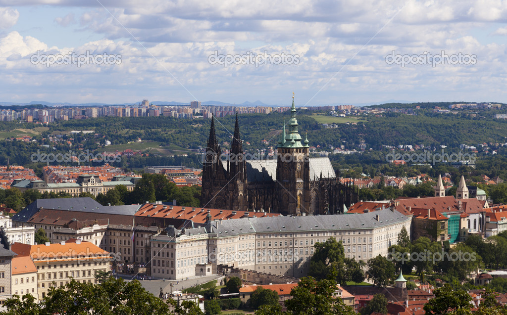 Prague - Hradcany and St. Vitus Cathedral — Stock Photo #11707764