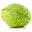 Fresh cabbage isolated on white — Stock Photo