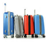 Luggage consisting of suitcases isolated on white — Stock Photo