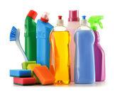 Detergent bottles isolated on white — Stock Photo