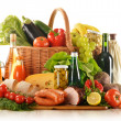 Foto Stock: Composition with variety of grocery products