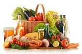 Composición con variedad de productos comestibles — Foto de Stock