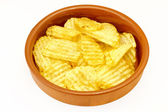 Chips in a bowl — Stockfoto