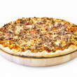 Pizza cheese steak — Stock Photo