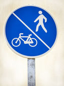 Signal pedestrian and bicycle lane — Stock Photo