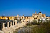 Ponte da mesquita e romano — Fotografia Stock