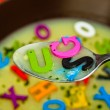 Alphabet soup — Stock Photo