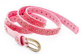 Pink women belts — Stock Photo