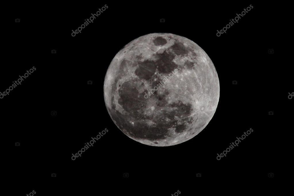 Moon closeup showing the details of the lunar surface. — Stock Photo #11743386