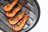 Shrimp grilled — Stock Photo