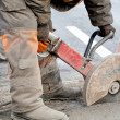 Upgrading road surfaces during repairing works — Stock Photo #11402429