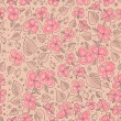 Seamless floral pattern. Flowers texture. — Vector de stock
