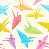 Origami paper cranes — Stock Vector
