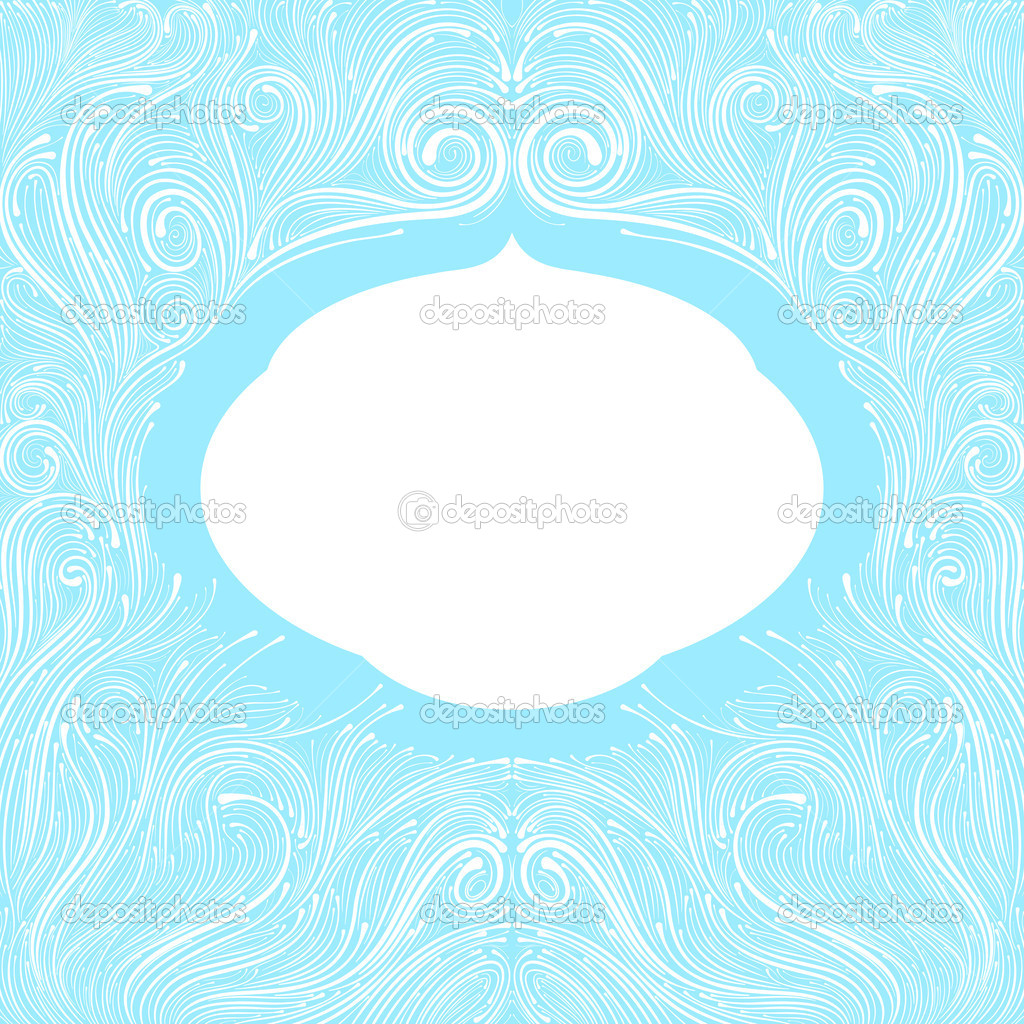 Beautiful abstract ornate blue frame — Stock Vector #12212644