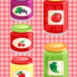 Jams and pickled vegetables — Stock Vector #12296995