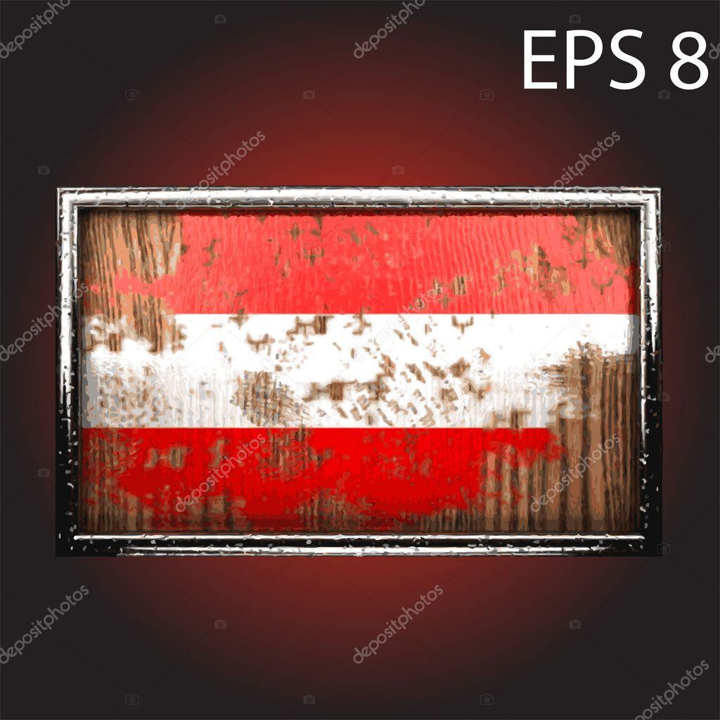 Flag on old wood made in vector — Stock Vector #10850291