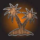 Vektör palm — Stok Vektör