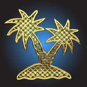 Vector palm — Stock Vector