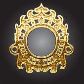 Vector golden frame — Stock Vector