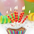 Colorful  birthday candels — Stok fotoğraf