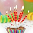 Colorful  birthday candels — Stock Photo