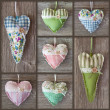 Collage with hearts — Stock Photo
