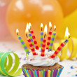 Colorful birthday candles — Stockfoto