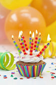 Colorful birthday candles — Stock Photo