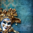 Abstract background with venetian mask - Stock Photo