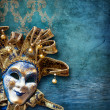 Abstract background with venetian mask — Stock Photo #11808301