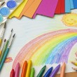 Stock Photo: Child's drawing