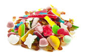 Candy on a pile — Stock Photo