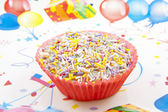 Decorated cupcake — Stock Photo
