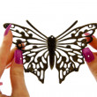 Black fashion  Butterfly — Stock Photo
