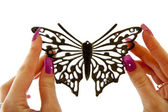 Black fashion Butterfly — Stock Photo