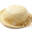 Lovely straw hat — Stock Photo