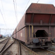 Stock Photo: Old rusty cargo train