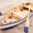 Classic little boat — Stock Photo