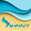 Summer sea background — Stock Vector #11455810