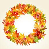 Autumn backgroun. Wreath of leaves — Stock Vector