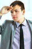 Picture of a business man looking forward to the future — Foto Stock