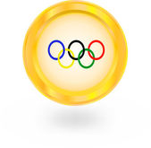 Icon olympic rings — Stock Vector