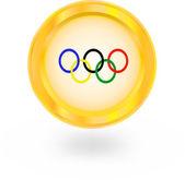Symbol olympischen ringen — Stockvektor