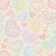 Seamless background with hearts — Stock Vector