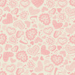 Seamless pattern with hearts — Stock Vector #11367313