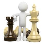3D white . Chess — Stock Photo