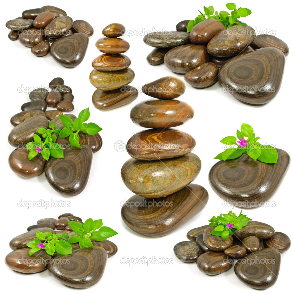 Zen stones isolated on white background — Stock Photo #10774216