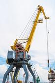 Port crane boom — Stock Photo