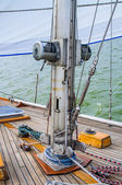 The mast sailing yacht. Photo Close-up — Stock Photo