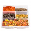 Stock Photo: Dry food for aquarium fish